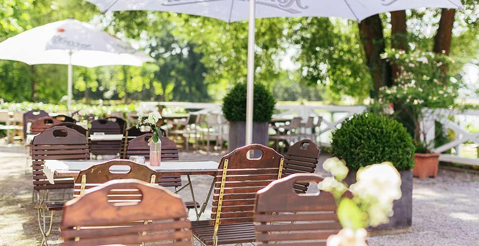 SeeRestaurant Bollendorf am Herthasee draussen sitzen